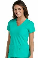 Med Couture Activate Style 8416 V-Neck Scrub Top in Spearmint, Size XL