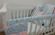 Bunny Love Nursery Cot Quilt Set 3 Piece Handmade - Perfect Gift! **REDUCED**