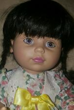 "1995 Playmates Baby So Beautiful 14"" Doll tagged Dress-ethnic-spain L@@K @ EYES!"