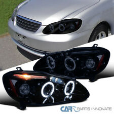 Glossy Piano Black For Toyota 03-08 Corolla Tinted Halo Projector Headlights