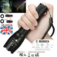 60000Lumens T6 Zoomable 5-Modes Tactical 18650 Flashlight Focus Torch