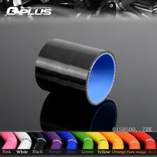 """1 5/8"""" 40mm Silicone Straight Hose Coupler Turbo Intercooler Pipe Hoses Black"""