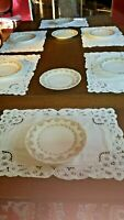 Limoges Set of 8 Luncheon/dessert plates Wm Guerin Pink Floral