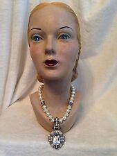 New HEIDI DAUS ESTATE ELEGANCE Pearl Crystal Necklace ENHANCER