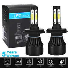 New listing 1 Pair H4 Hb2 9003 Led Headlight Kit Hi/Lo Beam Bulbs 6000K White 375000Lm