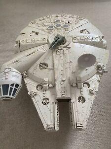 Vintage 1980s Kenner Star Wars Figure Vehicle Millennium Falcon Ship