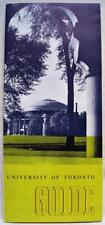 UNIVERSITY OF TORONTO CANADA GROUNDS MAP & INFORMATION BROCHURE GUIDE VINTAGE