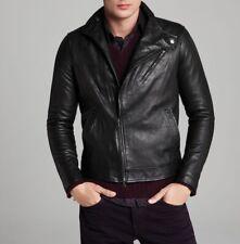 Real Lambskin Men's Slim Fit Leather Jacket Biker Style Motorcycle Jacket #81 AU