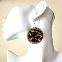 Orgone pendant earrings Dorothy Shungite, copper, protection, chakra reiki