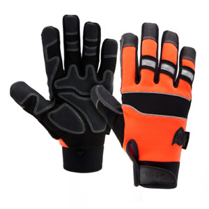 West Chester Safety Gloves Orange Pro Series Synthetic Leather Glove Size XL