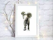 elephant glossy Print poster a4  image present  wall art unframed