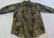 New Master Sportsman Camouflage Camo Brown Green Cotton Shirt Youth Boys M 10-12