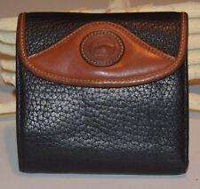 Dooney & Bourke Allwleather Vintage Large Credit Card Wallet Coin Purse Black