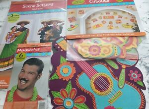 Summer Mexican Fiesta Garden Party Large Bundle Hanging Decorations Sombrero