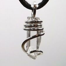 Danburite Sterling Silver Hand Forged Art Wrap Pendant