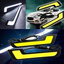 2x L-Shape Super White COB LED DRL Daytime Running Light Car Fog Driving Lamp