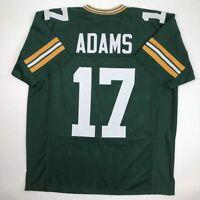 New DAVANTE ADAMS Green Bay Green Custom Stitched Football Jersey Size Men's XL