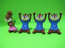 McDonald's 2011 Happy Meal Toys Chipmunks Chipwrecked Lot Of 4 Brittany & Simon