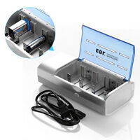 EBL Universal Charger for AA AAA 9V C D SIZE Ni-MH Ni-CD Rechargeable Batteries