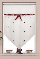Scheibengardine Kuvert Kurzgardine Vorhangspitze 2225 90x90 cm Weiß Rot