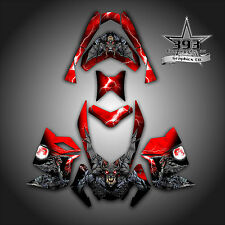 SKI-DOO REV XP SNOWMOBILE SLED GRAPHICS DECAL WRAP STICKER KIT GUARDIAN RED