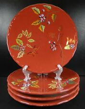Home Trends Arcadia Set of 4 Dinner Plates Red