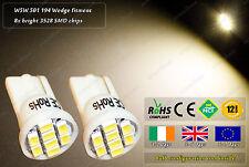 2x LED T10 W5W 501 Warm White 3500k Side Lights Parking Bulbs Truck Lorry 24v