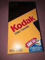 Kodak T-120 [HS High Standard] Video Cassette VHS Video Tapes Used 3 Pack