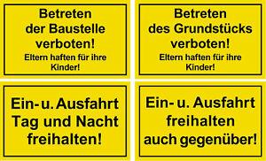 ☆ Schild - Betreten der Baustelle verboten / Ein- und Ausfahrt freihalten