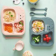 6Pc/Set Tableware Kid Dinner Plate Fork Cup Drop-resistant Children Feeding Dish
