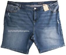 NEU Damen Marks & Spencer Blau Denim Shorts Größe 22