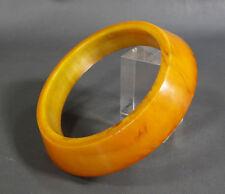 """Antique Art Deco Butterscotch Amber Faturan Bakelite Ring 120 Gram 5.25""""Diameter"""