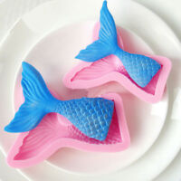 3D Mermaid Tail Silicone Fondant Mold Sugarcraft Baking Cake Cupcake  Decor Tool