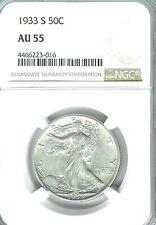 1933-S Walking Liberty Half Dollar : NGC AU55