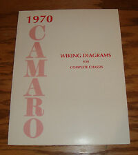 1970 Chevrolet Camaro Wiring Diagram Manual for Complete Chassis 70 Chevy