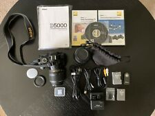 Nikon D D5000 12.3MP Digital SLR Camera Kit - Black with 2 Lens
