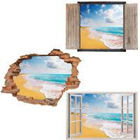 Window Wall Sticker Decal Vinyl 3D Sea Beach Ocean home art room decor