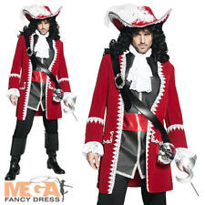 Authentic Pirate Captain Hook Mens Fancy Dress Fairytale Book Adults Costume New