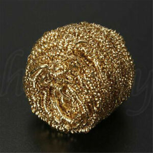 1pc Gold Soldering Solder Iron Tip Cleaner Brass Cleaning Wire Sponge Ball
