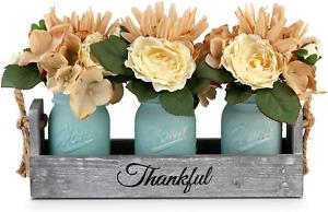 Mason Jar Table Centerpieces Dining Room Coffee Table Decor 3 Mason Jars Flowers