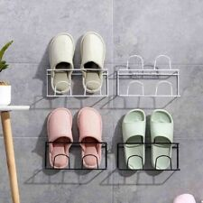 Shoe Rack Wall Mount Double Layer Shelf Slippers Space Saver Holder Organizer