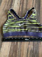 Nike Pro Women's Sz XS DriFit Sports Bra Multicolored Striped 19