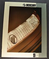 1993 Mercury Brochure Grand Marquis Cougar XR7 Sable Topaz Capri Tracer Villager