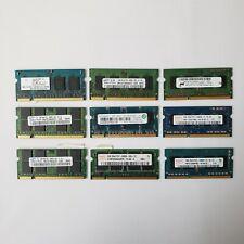 Lot of 9 RAM, PC2 PC3 512MB-2GB SODIMM Memory