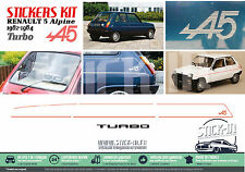 Renault 5 Alpine Turbo A5 1982/1984 Set complet Autocollants Stickers Decals R5
