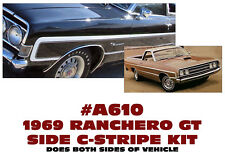SP A610 1969 FORD RANCHERO GT - SIDEBODY C-STRIPE KIT - FACTORY REPLACEMENT