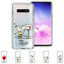 Snoopy Charlie Brown Smack Clear Jelly Cover Galaxy S20 S10 5G S9 S8 Note10 Case