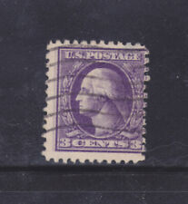 US Stamps: #530a EFO; 3c Type IV Offset Wash/Franklin; Double Impression; Used