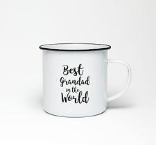 Best Grandad in the World Love From PERSONALISED Mug Gift Metal Cup Enamel 10oz