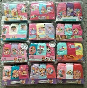 Girls Childrens Character 3 Pack Knickers Briefs Pants 18 24 2 3 4 5 6 7 8 Years